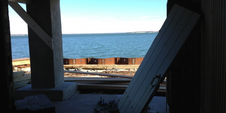 "So there wasn't really a front to the boathouse Post Storm, but I choose to think of it as a new ""unobstructed view!"""